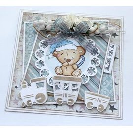CREATIVE EXPRESSIONS und COUTURE CREATIONS Motif stamp, Christmas bear / baby