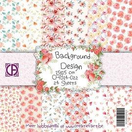 """Designer Papier Scrapbooking: 30,5 x 30,5 cm Papier Bloco de papel """"Flor Sonhos"""""""