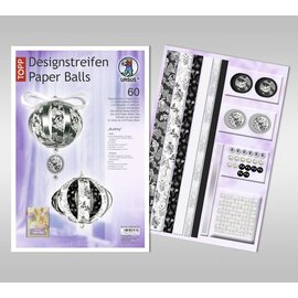 BASTELSETS / CRAFT KITS Craft SET: festlig dekorasjon, papirkuler