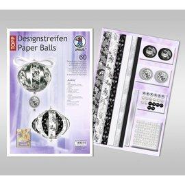 BASTELSETS / CRAFT KITS SET de manualidades: decoración festiva, bolas de papel
