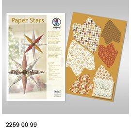 """BASTELSETS / CRAFT KITS Papir Stjerner, """"Lounge"""", der er fastsat for 6 Stjerner"""