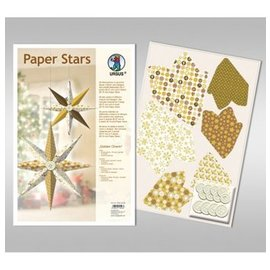 "BASTELSETS / CRAFT KITS Paper Stars, ""Lounge"", fijado para 6 estrellas"