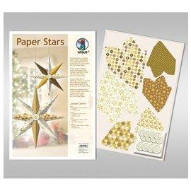 """BASTELSETS / CRAFT KITS Paper Stars, """"Lounge"""", sat til 6 stjerner"""