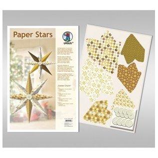"BASTELSETS / CRAFT KITS Paper Stars, ""Lounge"", conjunto para 6 estrelas"