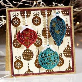 Crafter's Companion Modello di punzonatura: 3 fiocchi di Natale in filigrana