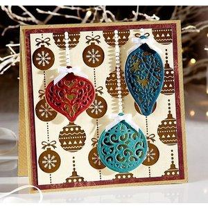 Crafter's Companion Ponksjabloon: 3 filigraan kerststrikken
