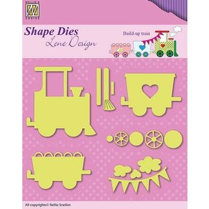 Nellie Snellen Punching template: train with wagons
