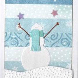Penny Black Die cutting template: Happy snowman, size: 6.5 x 7 cm