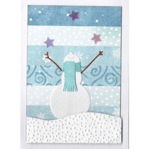 Penny Black Stansmal: Happy snowman, afmeting: 6.5 x 7 cm