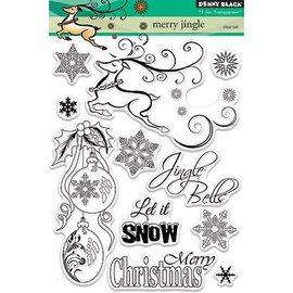 Penny Black Motif timbre, renne, boules de Noël, cristaux de glace