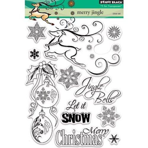 Penny Black Motif stamp, reindeer, Christmas balls, ice crystals