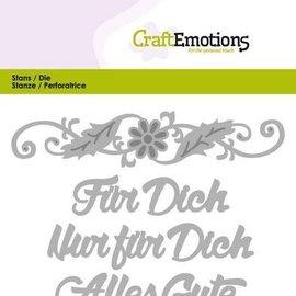 Spellbinders und Rayher Stanzschablonen: texto en alemán: para ti