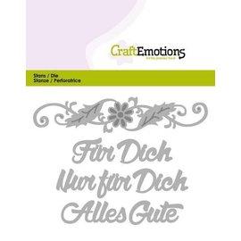 Spellbinders und Rayher snijmallen / Sjablonen: Duitse tekst: voor jou