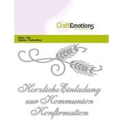 Spellbinders und Rayher Stanzschablonen: deutsche Text: Einladung Kommunion / Konfirmation