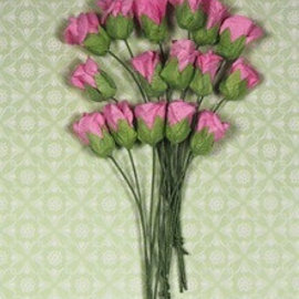 Marianne Design Papirkasse buds sortiment, pink, 15 stk