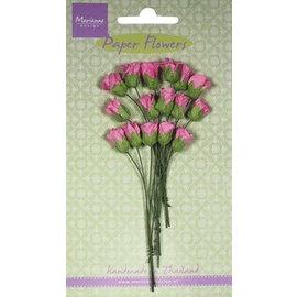 Marianne Design Papierröschen Knospen sortiment, rosa, 15 Stück