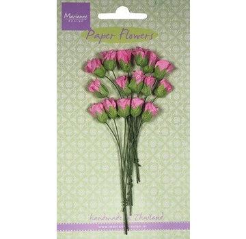 Marianne Design Papieren doosknoppen assortiment, roze, 15 stuks