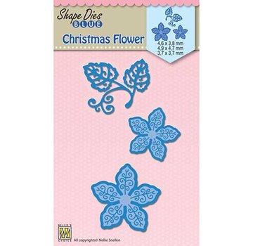 Nellie Snellen Modello di punzonatura, rosa di Natale (stella di Natale)