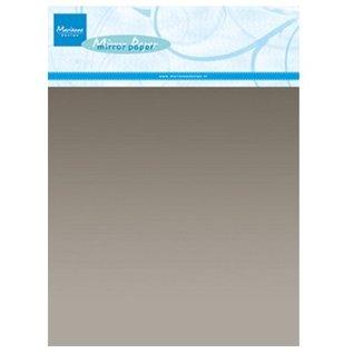 Marianne Design A5 spejl karton, sølv, 5 stk