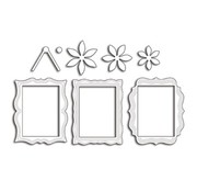 Penny Black Punching template: 3 decorative decorative frames