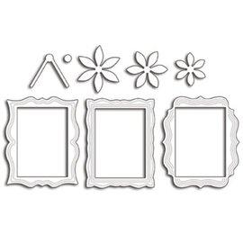 Penny Black Ponssjabloon: 3 decoratieve sierlijsten