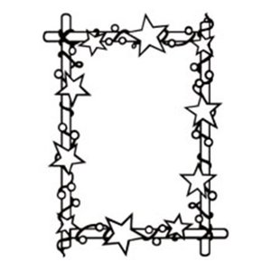 embossing Präge Folder Dossier de gaufrage: cadre avec des étoiles, 106 x 150 mm