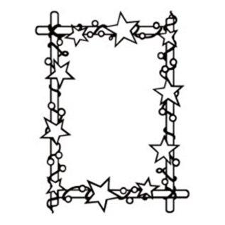 embossing Präge Folder Embossing folder: frame with stars, 106 x 150 mm