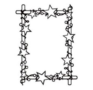 embossing Präge Folder Prägefolder: Rahmen mit Sternen, 106 x 150 mm