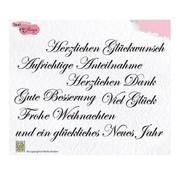 Nellie Snellen Motivstempel, gennemsigtig: tysk tekst 148x102mm