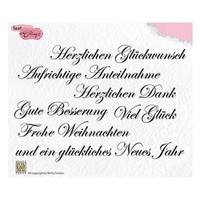Motif stamp, transparent: German text 148x102mm