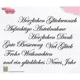 Nellie Snellen Motif timbre, transparent: texte allemand 148x102mm