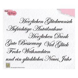 Nellie Snellen Selo com motivo, transparente: texto em alemão 148x102mm