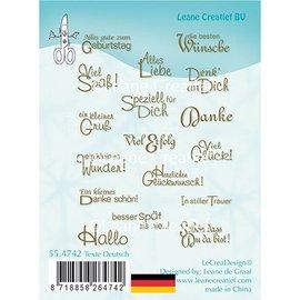 Leane Creatief - Lea'bilities und By Lene Motiefstempel transparant: Duitse tekst