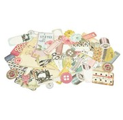 Kaisercraft und K&Company 50 Chipboards,  Needle & Thread Collectables - Limited!