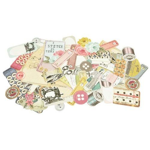 Kaisercraft und K&Company 50 Chipboards, Needle & Thread Collectables