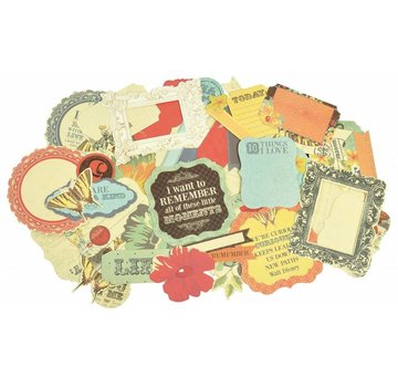 Kaisercraft und K&Company 50 Chipboards,  Kaisercraft looking glass collectables - Limited