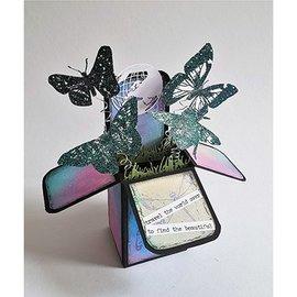 Dutch DooBaDoo A4 Plastic Template: Box Art Popup Box