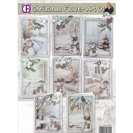 BASTELSETS / CRAFT KITS Komplettes Bastelsets zur Gestaltung von 8 Karten!