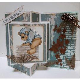 Dutch DooBaDoo A4 plast skabelon: kort kunst tekst Trifold 2
