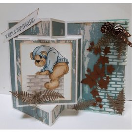 Dutch DooBaDoo A4 Plastic Template: Card Art Text Trifold 2