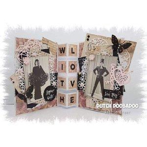 Dutch DooBaDoo A4 Plastik Schablone: Card Art Treppen Karte