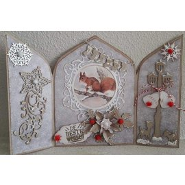 Dutch DooBaDoo A4 plast skabelon: Kort Art Triptych 3