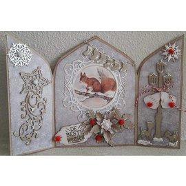 Dutch DooBaDoo A4 Plastik Schablone: Card Art Triptych 3