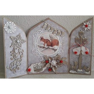 Dutch DooBaDoo Modelo de plástico A4: Triptych de arte de cartão 3