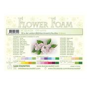 Leane Creatief - Lea'bilities und By Lene Blumen / Flower Foam sheets, creme farbe