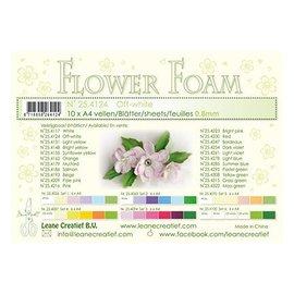 Leane Creatief - Lea'bilities und By Lene Flores / hojas de espuma de flores, color crema