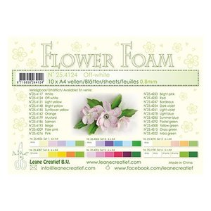 Leane Creatief - Lea'bilities und By Lene Fleurs / feuilles de mousse de fleur, couleur crème