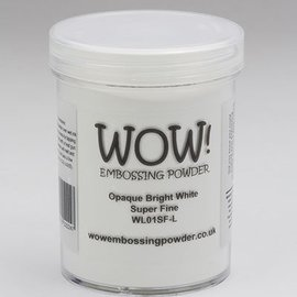 FARBE / STEMPELKISSEN Wow! Embossing powder white, Super Fine