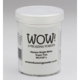 FARBE / STEMPELKISSEN Wow! Relieve en polvo blanco, Superfino