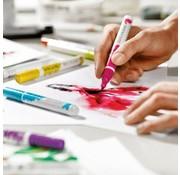 FARBE / STEMPELKISSEN Pennello set pennelli Ecoline 5 colori!